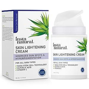Skin Lightening Face Cream - Dark Spot Corrector & Remover - Scar Removal, Facial Sun & Age Spot Lightener, Whitening & Brightening Hyperpigmentation Treatment Fade Lotion with Vitamin C - 1.7 oz