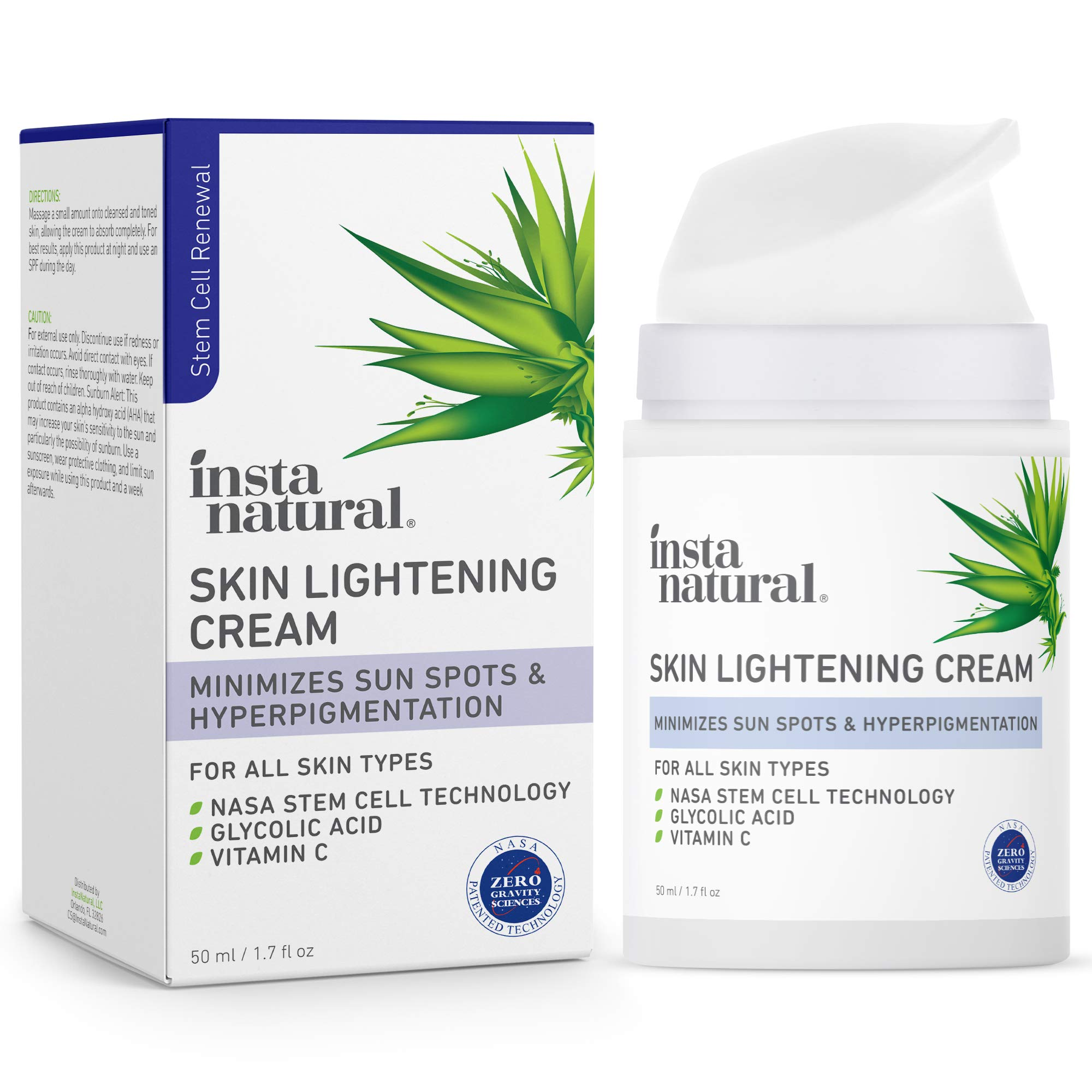 Brightening Facial Cream - Dark Spot Corrector & Remover - Scar Removal, Facial Sun & Age Spot Reducer & Brightening Hyperpigmentation Treatment Face Lotion for Women with Vitamin C - 1.7 oz