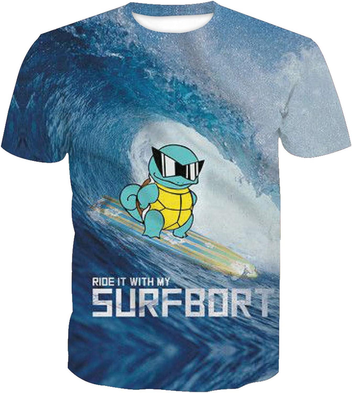 Camiseta 3D para hombre, diseño de anime, tortuga, surf ...