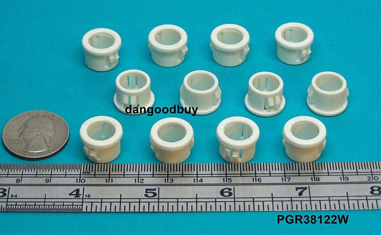 "Locking Plastic Black Nylon Grommet for 2 1//4/"" Opening in Rigid Panel"