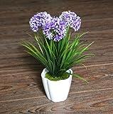 XICHEN Artificial Potted Plant, Hydrangea, 10Inch (Deep Purple)
