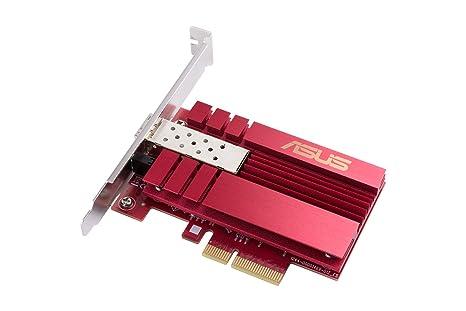 Asus XG-C100F - Tarjeta de Red PCIe 10 gigabit con Puerto SFP+ (Soporte Perfil bajo, QOS, Conexiones DAC)