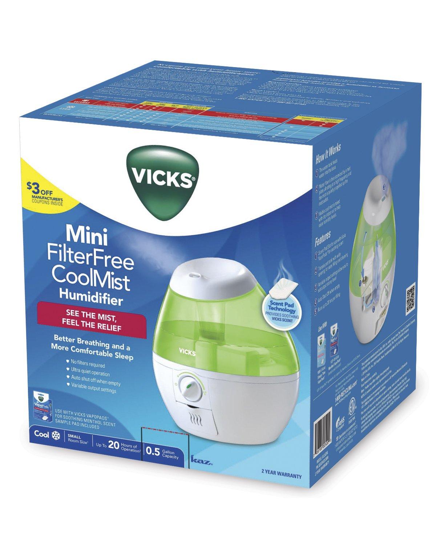 Vicks VUL520P Mini Filter Free Cool Mist Humidifier Pink