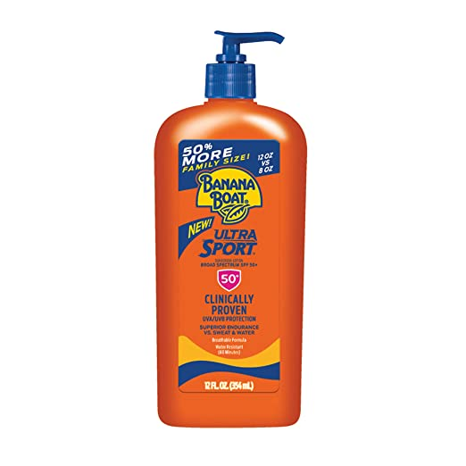 Banana Boat Ultra Sport Sunscreen Lotion, New Formula, SPF 50+, 12 Ounces