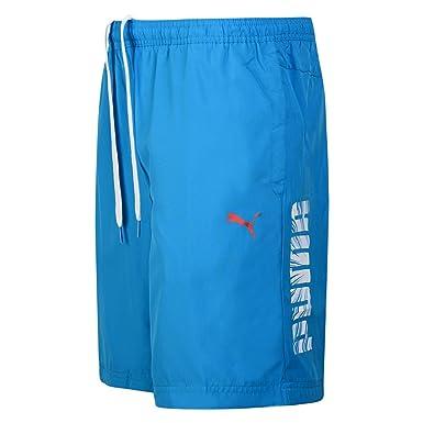 d8a0a7693a Puma Men's Logo Swimming Shorts - Blue (XL): Amazon.co.uk: Clothing