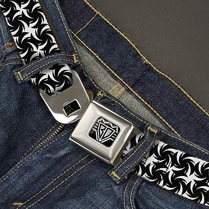 Black//White 1.0 Wide-20-36 Inches Buckle-Down Mens Seatbelt Belt Pinwheel Kids