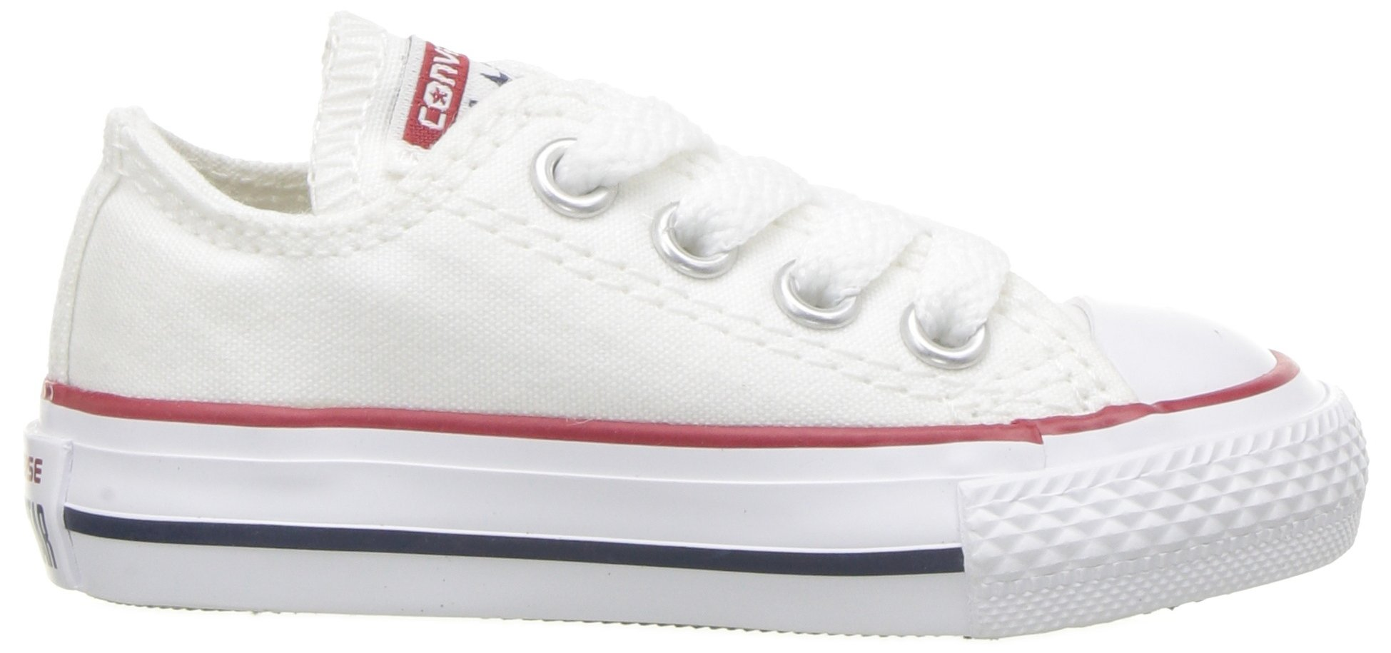 Converse Chuck Taylor All Star Canvas Low Top Sneaker, Optical White, 13.5 M US Little Kid by Converse (Image #11)