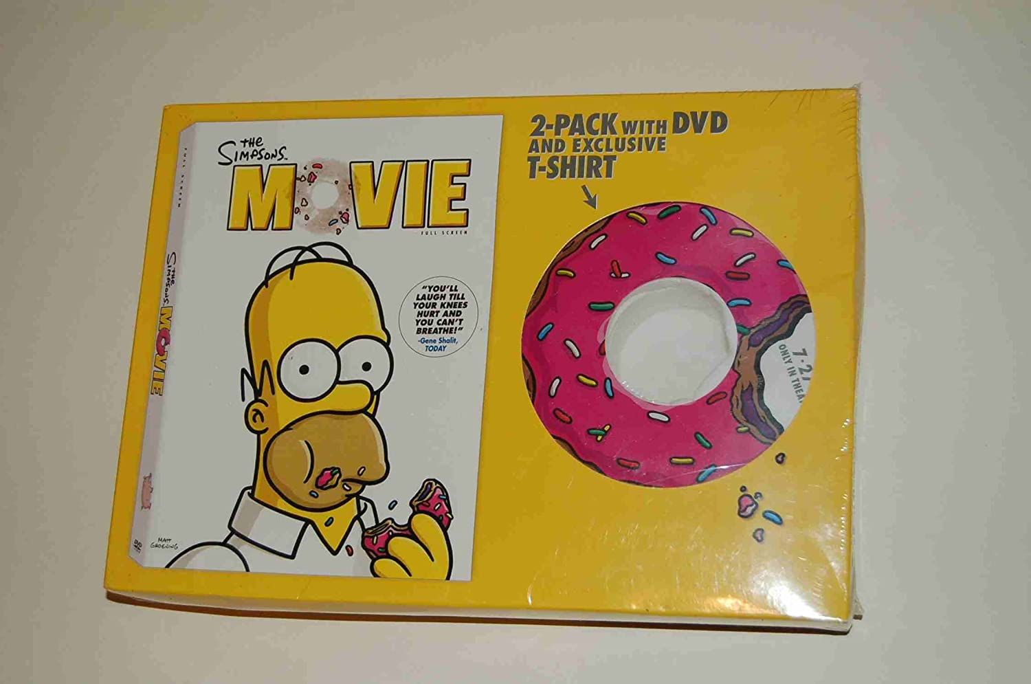 Amazon Com The Simpsons Movie With T Shirt Movies Tv
