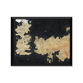 Amazoncom Westeros Map Game Of Thrones Minimalist Poster Home