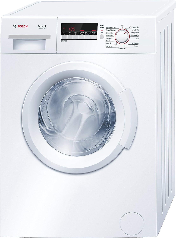 1400 U//Min AllergiePlus Bosch WAB282H2 6kg A+++ Waschmaschine weiß