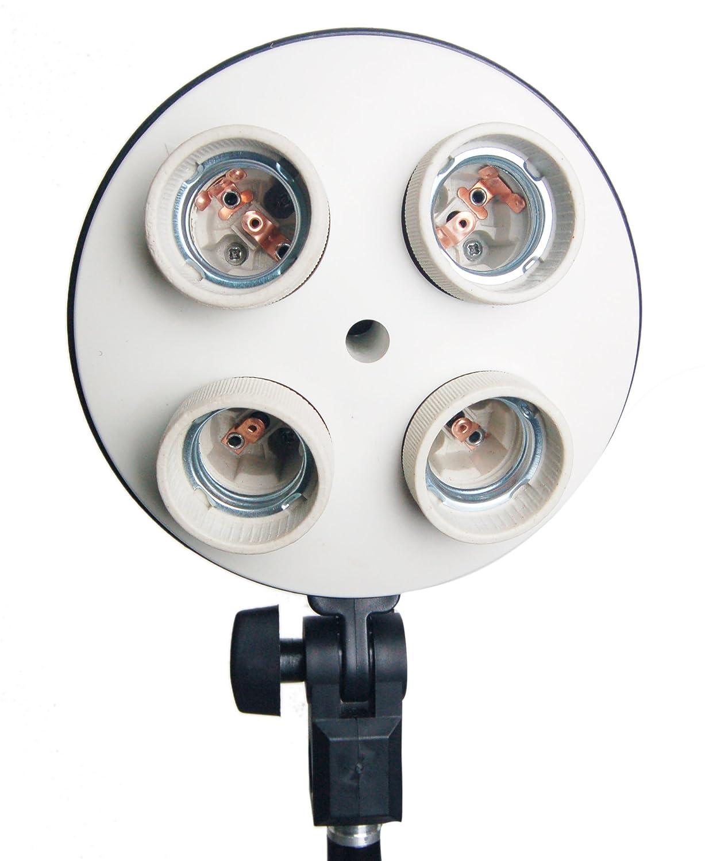 Studio KIT 4-in-1-E27-Sockel-Adapterhalter mit 4 Lampenfassung