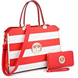 "Women Large Designer Handbags Satchel Purses Structured Briefcase Shoulder Bags Work Bags for 13"" Laptop Tablet"