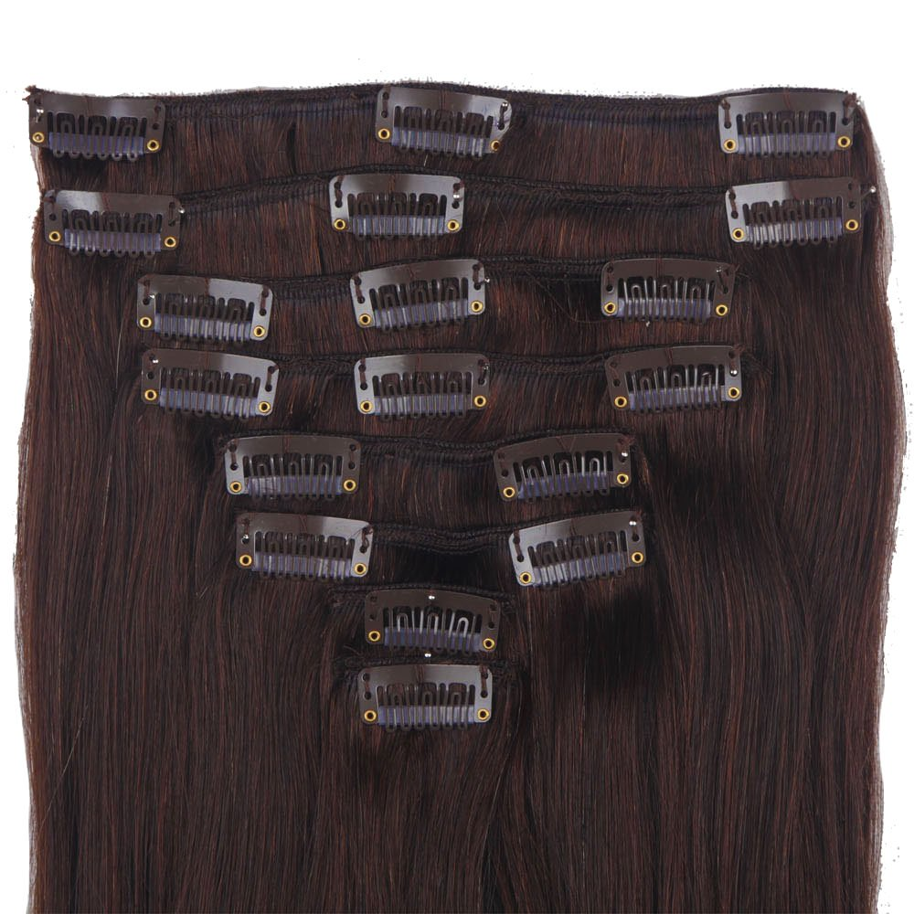 Lelinta 18'' 8Pcs 100% Remy Real Human Single Thick Weft Hair Straight Extension by Lelinta (Image #5)