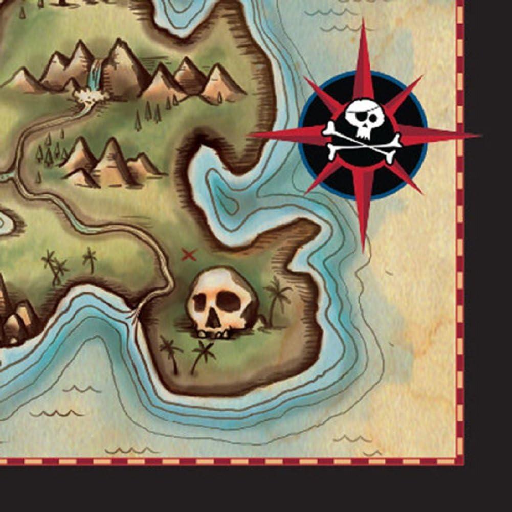 48 ct Pirates Map Beverage Napkins