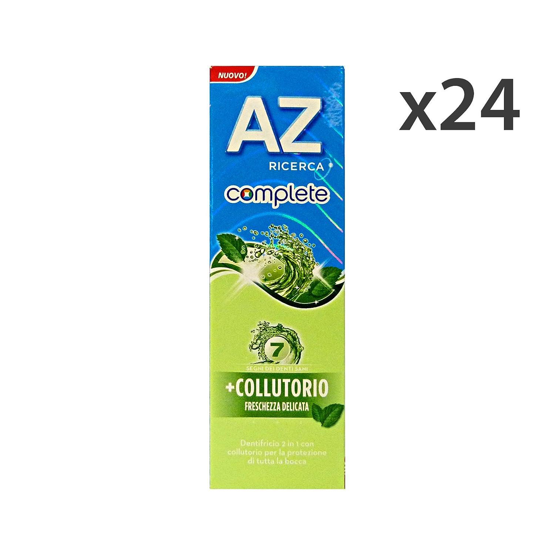 Set 24 AZ Dentifricio COMPLETE+COLLUTTORIO Freschezza Delicata 75 Ml. Hautpflege