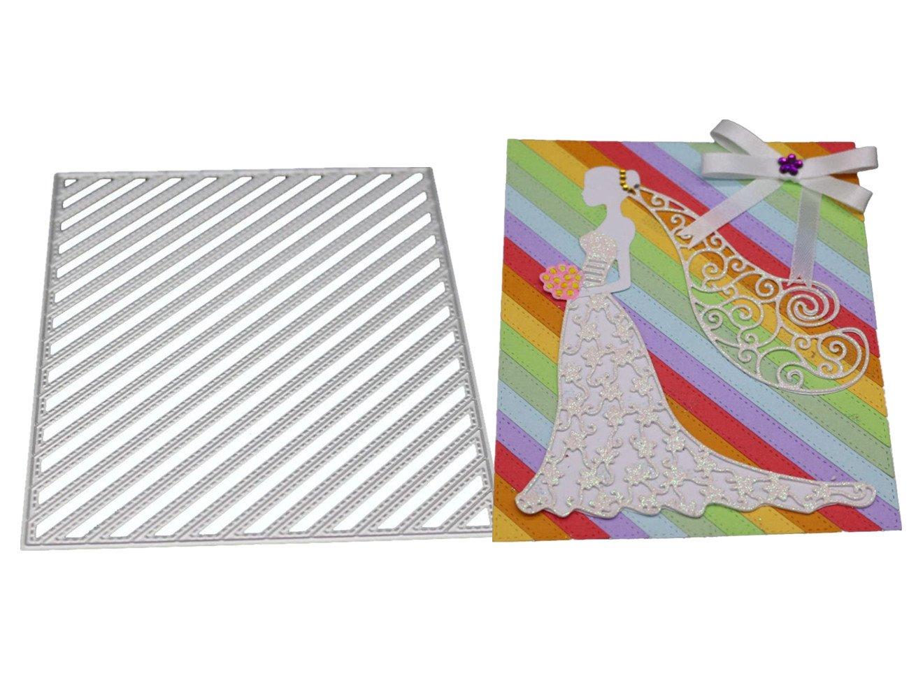 FNKDOR Fustelle per Scrapbooking Metallo Fustella Stencil Carta Cutting Dies DIY Album Foto, Accessori per Big Shot e altre macchina (A)