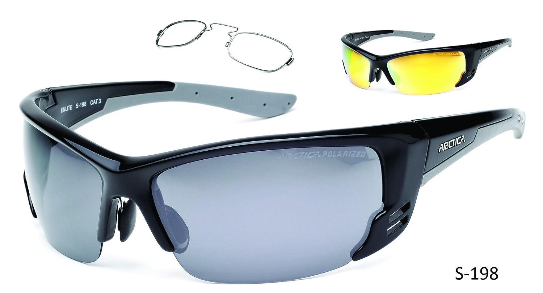 dea23837e2 Polarized Sports Sunglasses with OPTICAL RIM for prescription lenses S-198  UV400 black  Amazon.co.uk  Sports   Outdoors