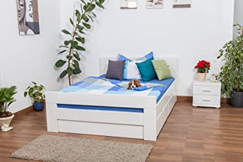 Bett Mit Stauraumu0026quot;Easy Premium Lineu0026quot; K6 Inkl. 2 Schubladen Und 1  Abdeckblende