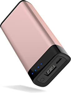 Portable Charger Power Bank Battery - by TalkWorks | 4000 mAh | Cell Phone Backup External Dual USB Power Pack for Apple iPhone 11, XR, XS, X, 8, 7, 6, iPad & Android for Samsung Galaxy - Rose Gold