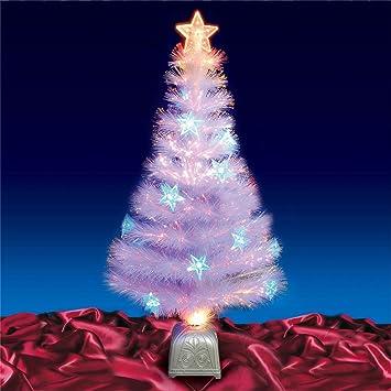 4ft 120cm White Fibre Optic Christmas Tree Blue LED: Amazon.co.uk: Kitchen  & Home - 4ft 120cm White Fibre Optic Christmas Tree Blue LED: Amazon.co.uk