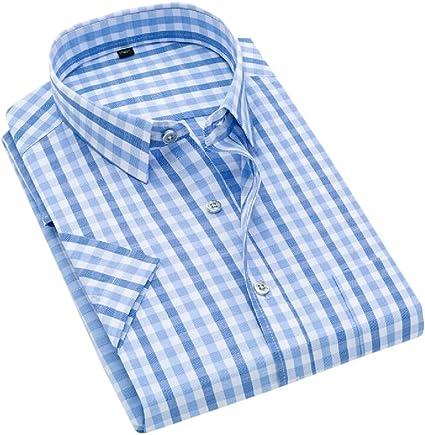 Joe Wenko Mens Button Down Formal Long Sleeve Cotton Plaid Shirt