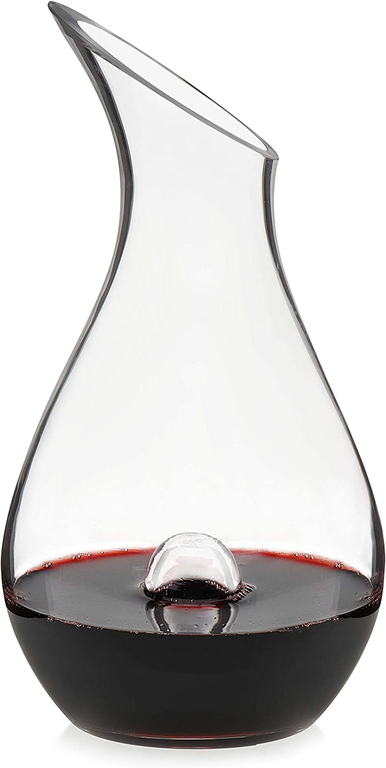 Renewed Libbey Resil Glass Wine Decanter with Punt