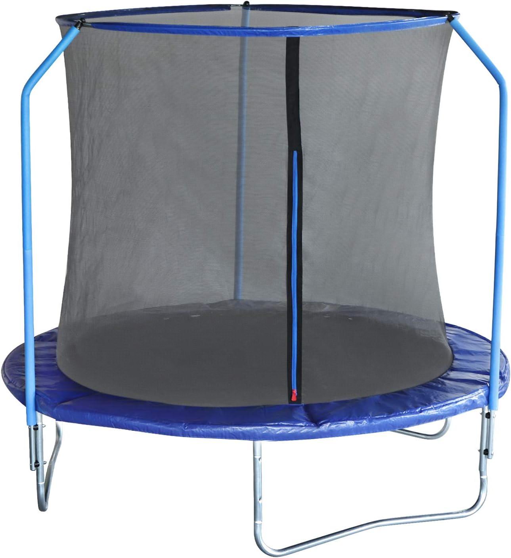EUGAD Cama Elastica Trampolin Jardín Infantil Hacer Ejercicio Ø240cm Jugar Mejora la Forma Física Color Azul 0003BC