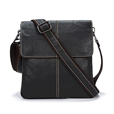 04b3171733a5 Amazon.com  Genuine Leather Men Bag Fashion Leather Crossbody Bag ...