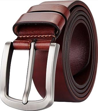 Blasea Full Grain piel Casual estilo Pin hebilla cinturones de pantalones  vaqueros para hombre  Amazon.es  Ropa y accesorios 2bfc75d2b58a