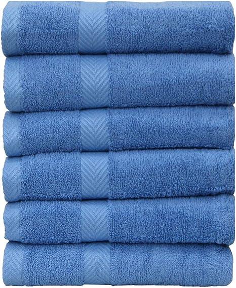 Chely Intermarket, Toallas de Baño, Manos y Toalla de Piscina // Azul.Clarito / 30x50 cm (x6 unds) / 550 grs-100% algodón. Secado rápido y Ligera. Fabricado en España.: Amazon.es: Hogar