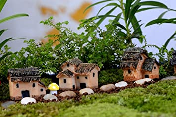 Stil B 2/X milopon decorazione Micro Paesaggio Mini Giardino In Miniatura H/ütten in resina per casa delle bambole Mobili per casa delle bambole Mobili da giardino decorazione da giardino