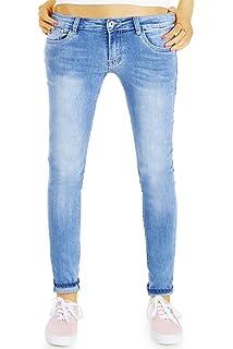 bestyledberlin Damen SkinnyJeans, Basic Blue Jeans, Sehr