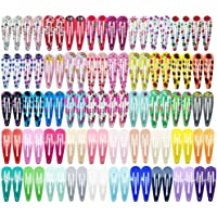 CCINEE Hair Clips,Flower Pattern Clips Metal Snap Ordinary Girl Barrettes-100 Pieces