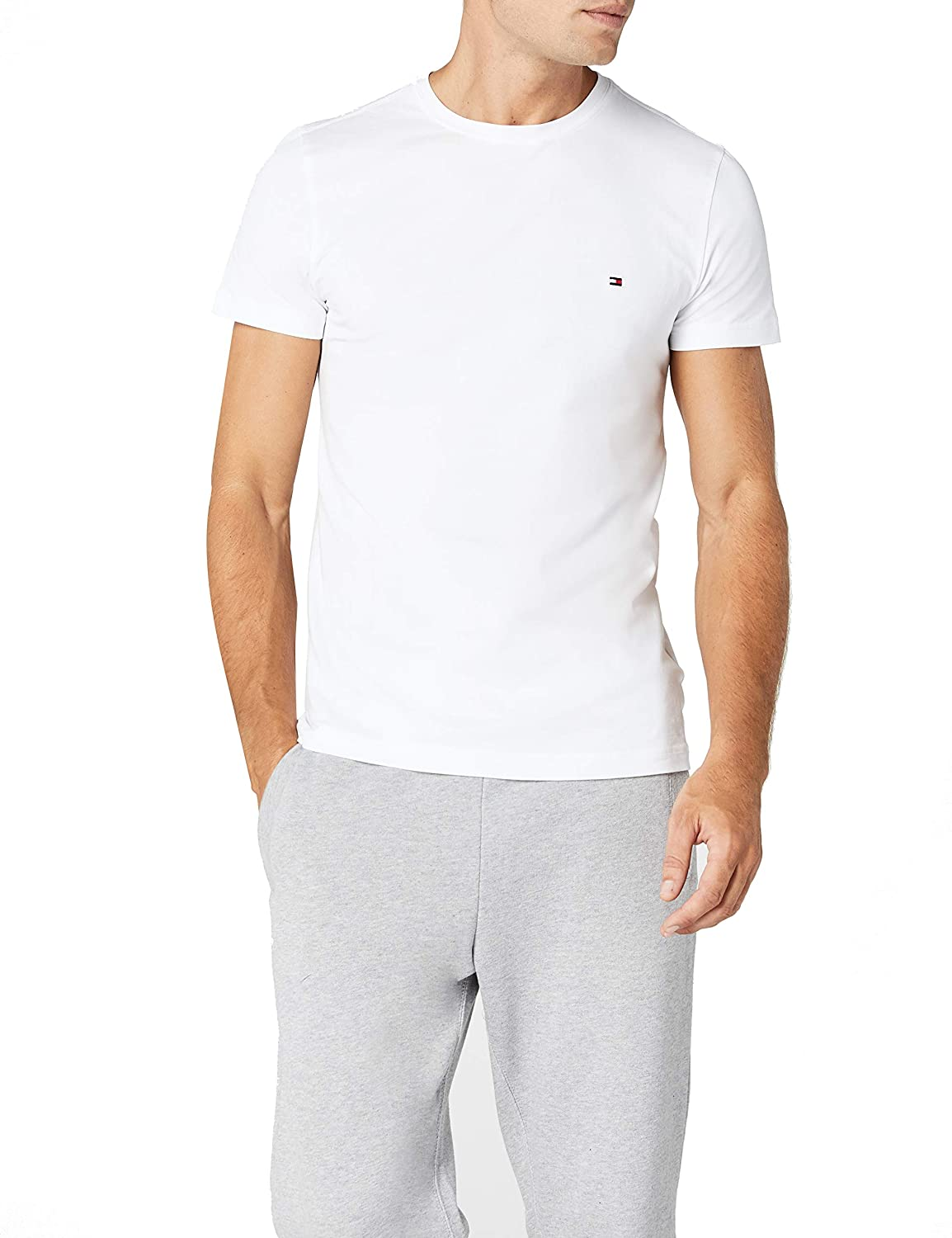 TALLA S. Tommy Hilfiger Core Stretch Slim Cneck tee Camiseta para Hombre