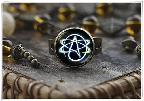 Magical Magnet Atheist Symbol Ring Atom Ring Atheist Jewelry