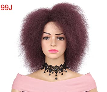 Star Sintético Corto Afro Rizado Pelucas Calor Resistente Fibra Kinky Rizado Pelucas Para Negro Mujer Pelucas