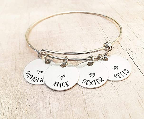db1c7997ef162 Amazon.com: Personalized Name Bracelet for Mom, Mother's Day Name ...