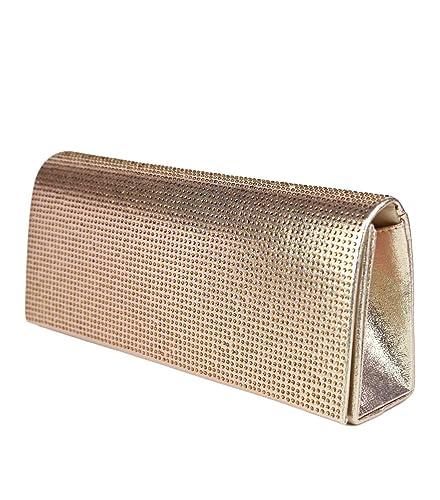 585522f04db64 Schompi Glitzernde Damen Tasche Abendtasche Clutch Bag mit abnehmbarer  Schulterkette Kettentasche Strasssteine