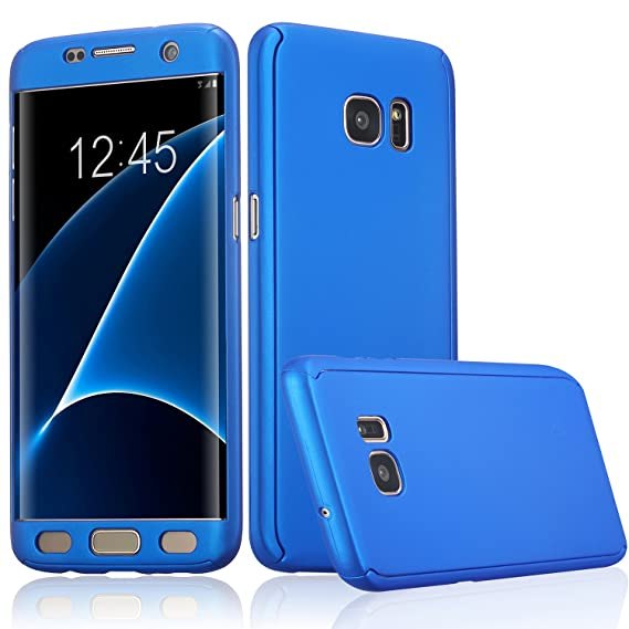 free shipping 295b2 4a677 ATOOZ(TM) Galaxy S7 Edge 360 Degree All-Around Full Body Slim Fit  Lightweight Hard Protective Skin Case Cover Without Screen Protector for  Samsung ...