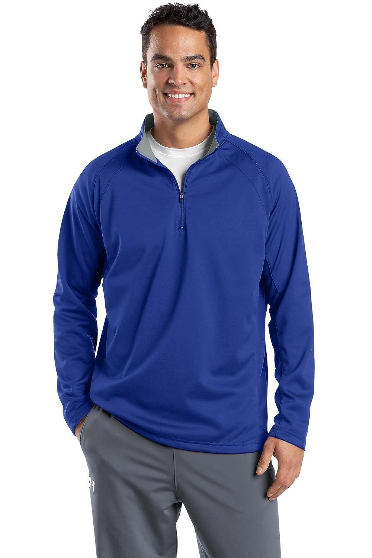 Sport-Tek Mens Tall Tech Fleece Colorblock Hooded Sweatshirt