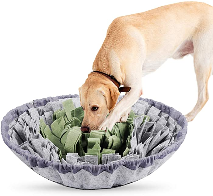 PatiencET Snuffle Mat for Dogs Feeding and Puzzle Games with Stress Relief for Dogs Trainiing Mats Durable and Machine Washable