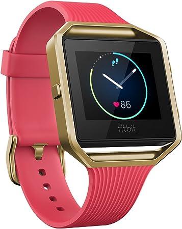 TALLA L. Fitbit Blaze Reloj Inteligente para Actividad Física, Unisex Adulto, Rosa y Oro, L