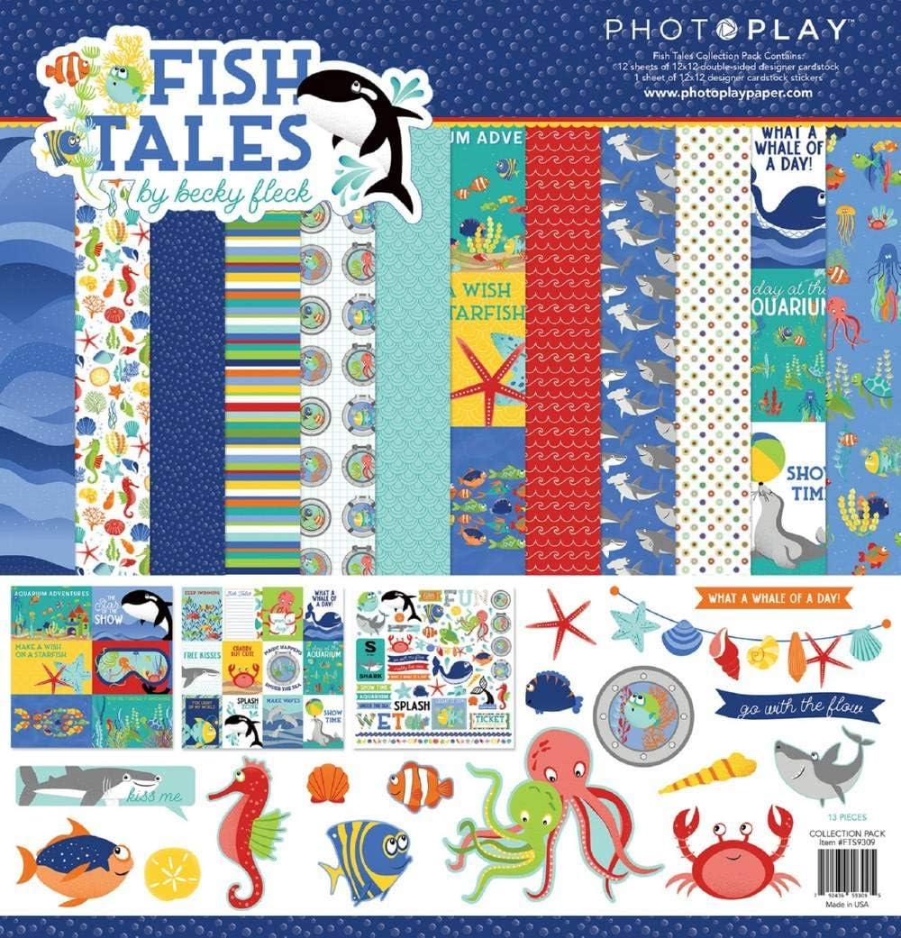 Photoplay Collection Pack de 12 x 12 pulgadas, cuentos de peces: Photoplay Paper: Amazon.es: Hogar