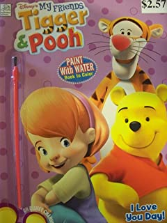 disneys tigger and pooh paint with water coloring book