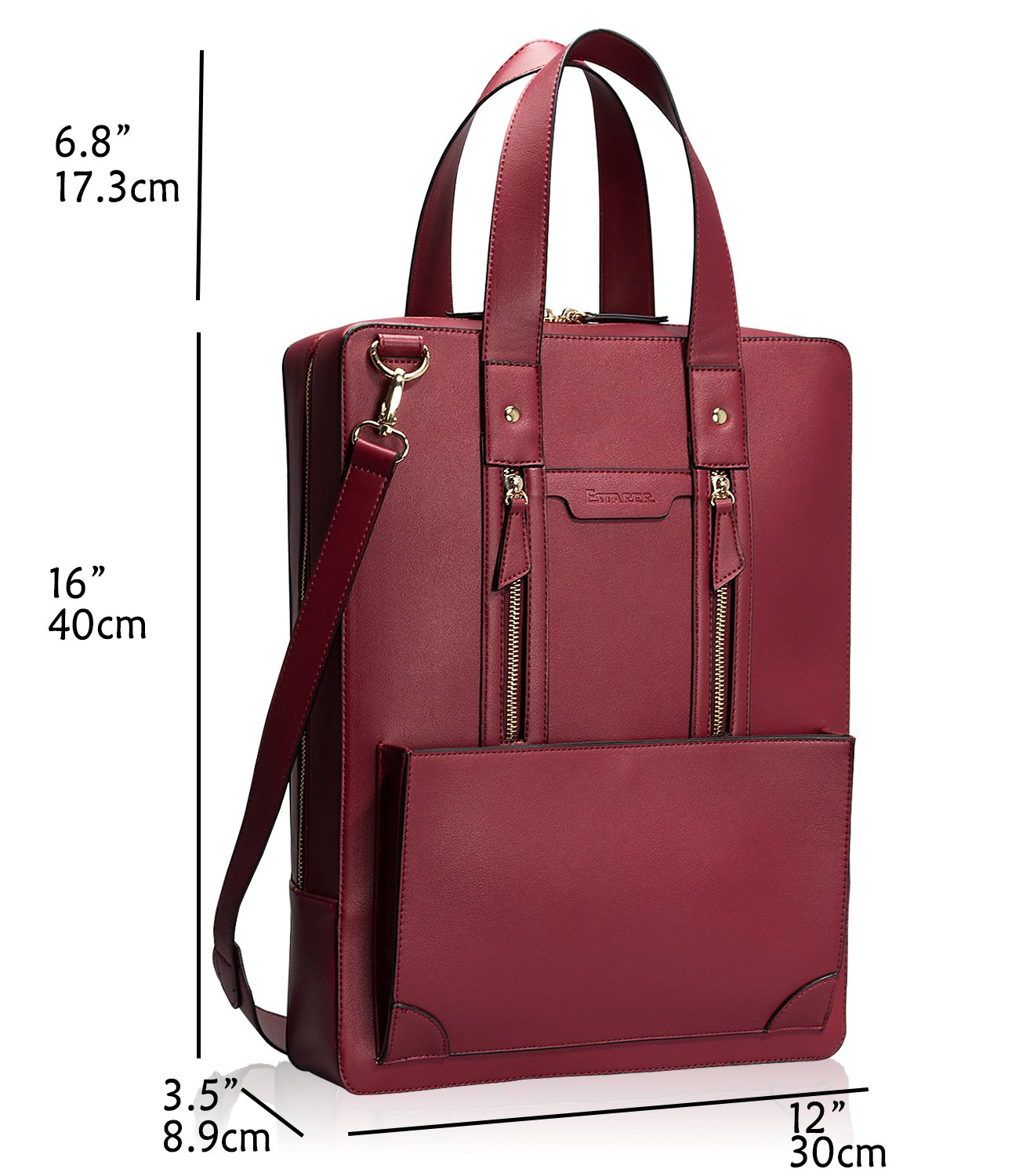 3fd24c96265 Amazon.com  Estarer Women Business Briefcase Handbag PU Leather 15.6 Inch  Shoulder Laptop Work Bag  Computers   Accessories