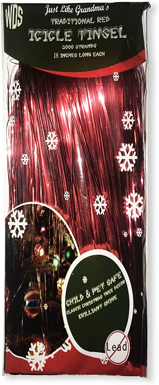 llxieym Christmas Icicles Tinsel Christmas Tree Iridescent Tinsel Foil Fringe Blue, 12000