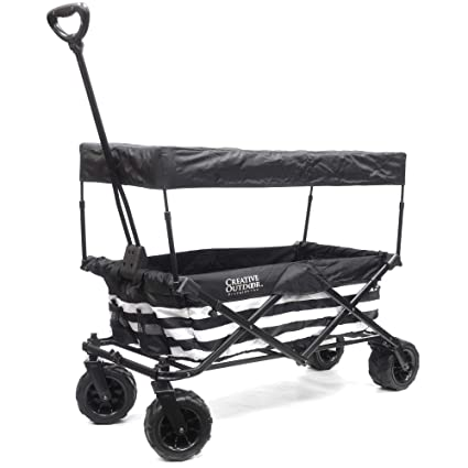 Amazoncom Creative Outdoor Collapsible Folding Wagon Cart For Kids
