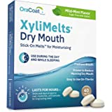 OraCoat XyliMelts Dry Mouth Relief Moisturizing Oral Adhering Discs Mild Mint with Xylitol, for Dry Mouth, Stimulates…