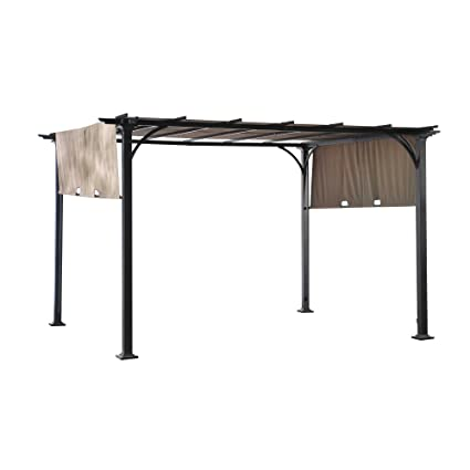 - Amazon.com: Sunjoy Doubleton Steel Pergola, 8' X 10': Garden & Outdoor