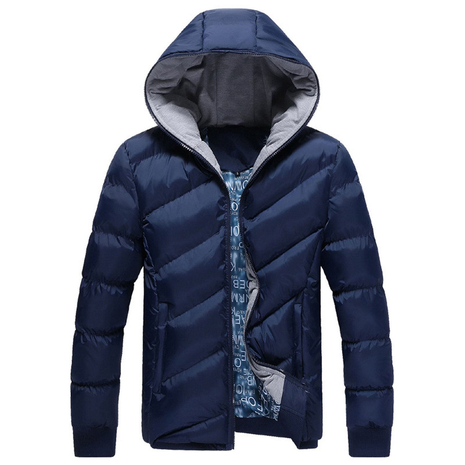 Sonjer New Men Hooded Winter Parkas Coats Superior Zipper Padded Cotton Jackets Male Keep Warm Casual Outwear Light Down Tops